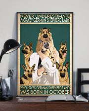 Crazy German Shepherd october 11x17 Poster lifestyle-poster-2