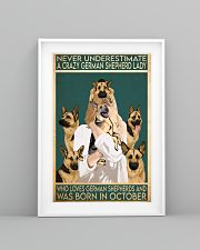 Crazy German Shepherd october 11x17 Poster lifestyle-poster-5