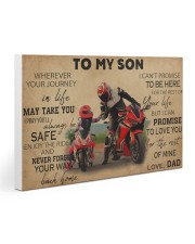 Motocycle To My Son PDN ngt Gallery Wrapped Canvas Prints tile