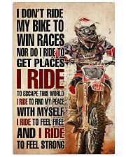 Motorcross I ride 24x36 Poster front