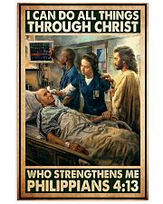 Jesus nurse I can do all thing 11x17 Poster front