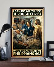 Jesus nurse I can do all thing 11x17 Poster lifestyle-poster-2