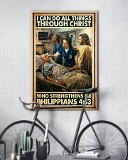 Jesus nurse I can do all thing 11x17 Poster lifestyle-poster-7