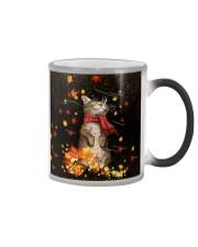 Cat Autumn PC PDN-DQH Color Changing Mug tile