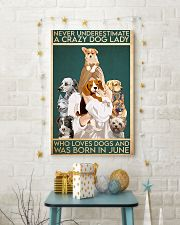 Dog Crazy Dog Lady Born In June 11x17 Poster lifestyle-holiday-poster-3