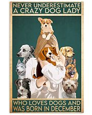 Dog Crazy Dog Lady Born In December 11x17 Poster front