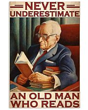 Book never underestimate an old man 24x36 Poster front
