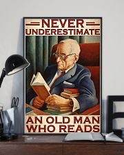 Book never underestimate an old man 24x36 Poster lifestyle-poster-2