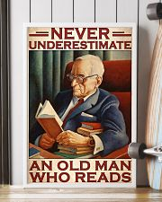 Book never underestimate an old man 24x36 Poster lifestyle-poster-4
