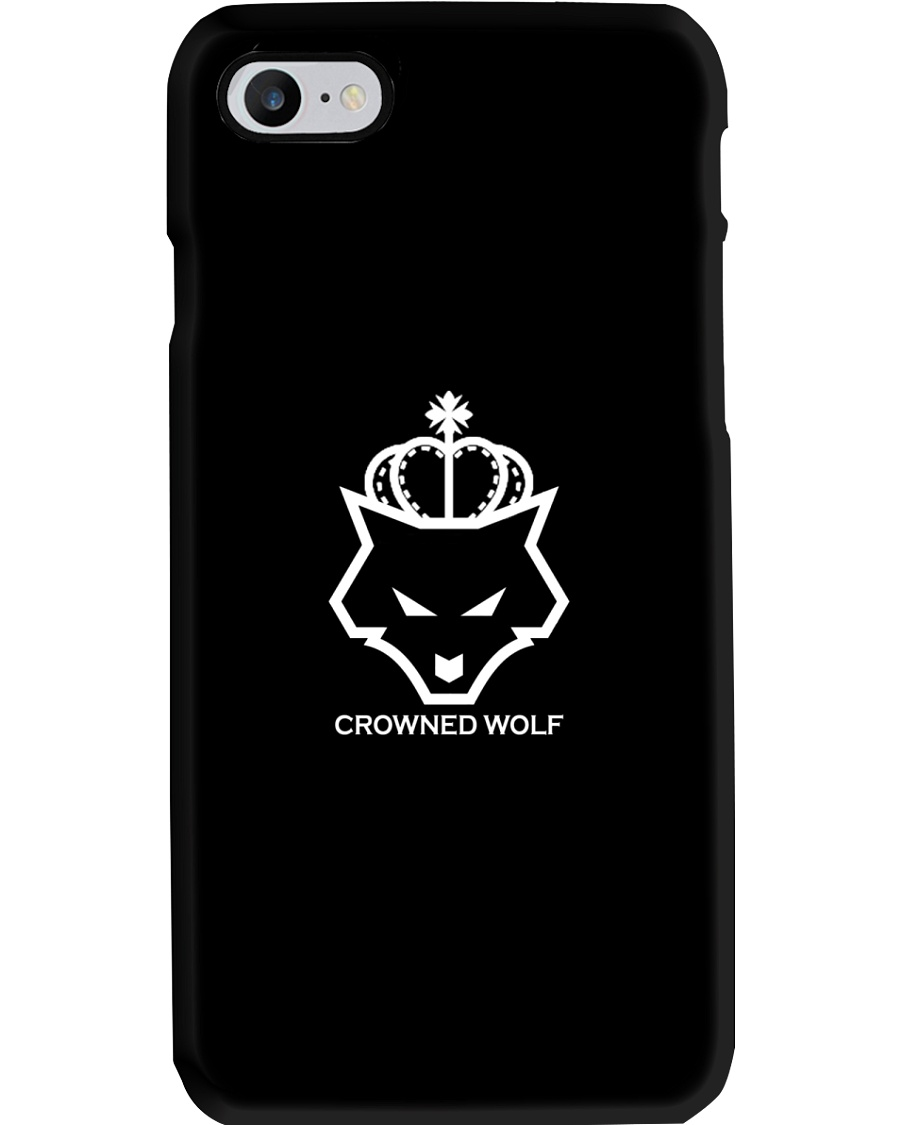 CROWNED WOLF WITH TEXT - BLACK EDITION Phone Case