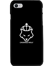 CROWNED WOLF WITH TEXT - BLACK EDITION Phone Case i-phone-7-case