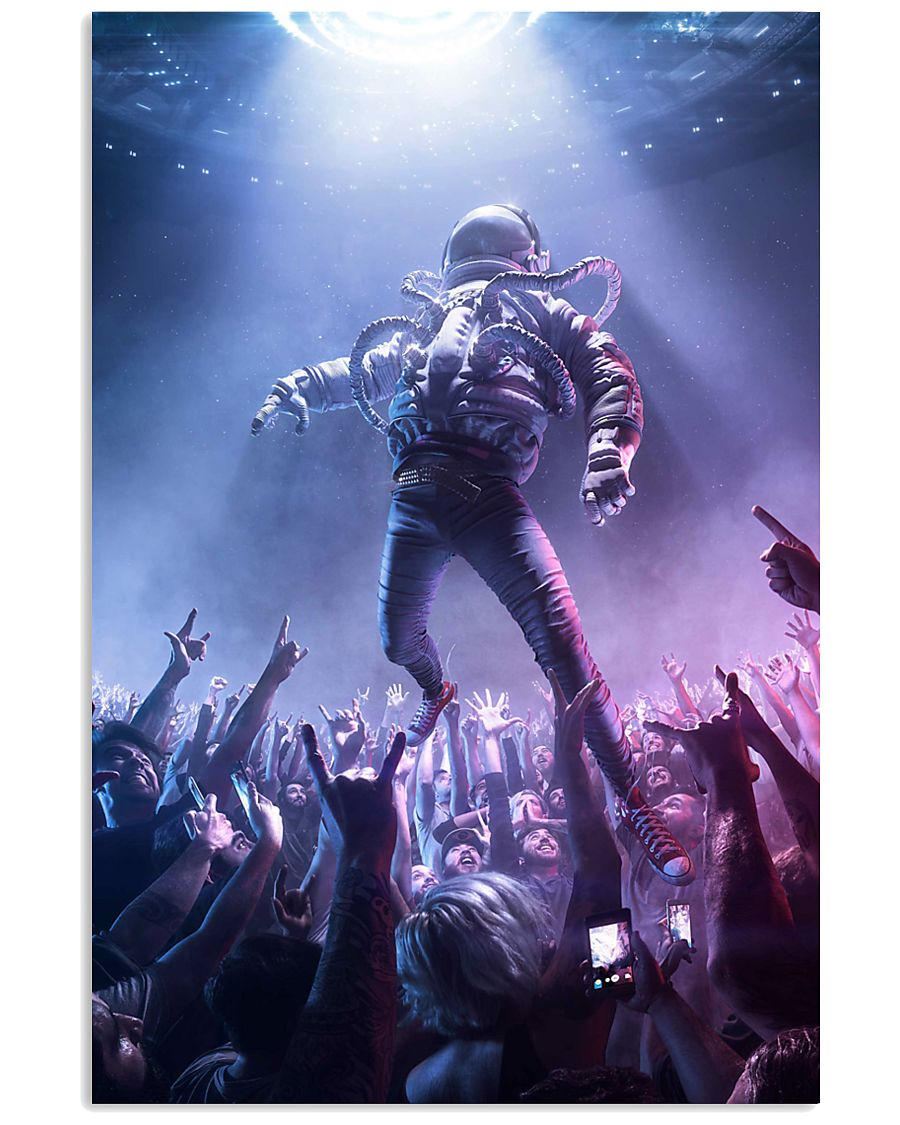 astronomy astronaut party rock 24x36 Poster