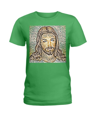 Jesus Artistic Illustration Colored Slits Style