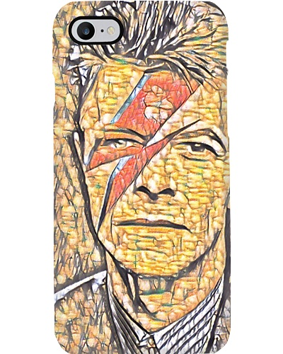 David Bowie Ziggy Stardust Style Old Painted Metal