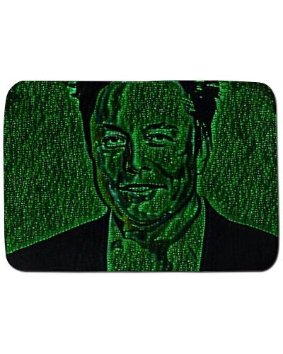 Elon Musk Smiling Art Illustration Code Matrix