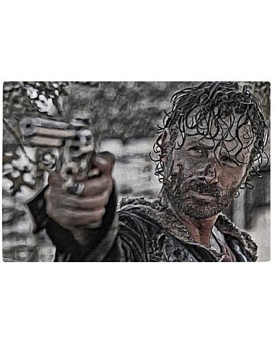 Rick Grimes Artistic Illustration Rough Style