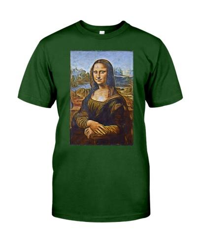 Mona Lisa Gioconda Artistic Illustration Gold Wire