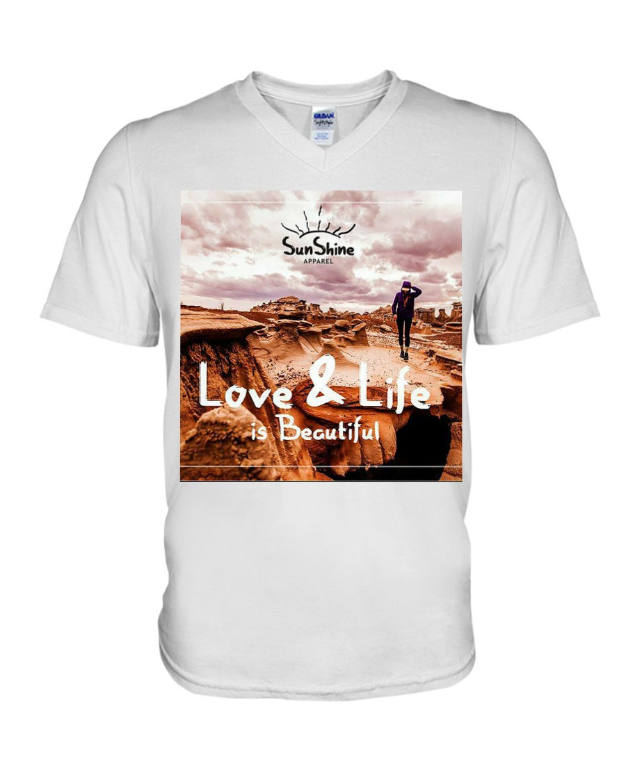 Love and life beautiful V-Neck T-Shirt