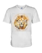 Lion t shirt V-Neck T-Shirt front