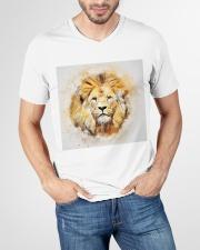 Lion t shirt V-Neck T-Shirt garment-vneck-tshirt-front-lifestyle-01