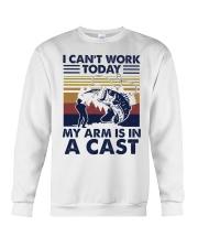 Fishing I cant work today 2 Crewneck Sweatshirt front