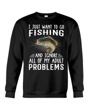 Fishng I JUST WANT TO GO Crewneck Sweatshirt tile