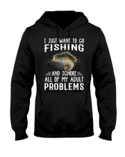 Fishng I JUST WANT TO GO Hooded Sweatshirt tile