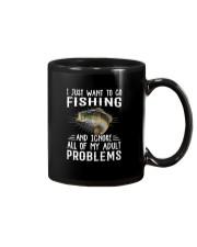 Fishng I JUST WANT TO GO Mug tile