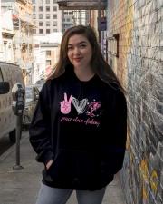 Peace Love Fishing Hooded Sweatshirt lifestyle-unisex-hoodie-front-1