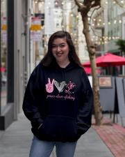 Peace Love Fishing Hooded Sweatshirt lifestyle-unisex-hoodie-front-2