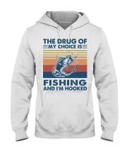 Fishing the drug of my choice 2 Hooded Sweatshirt tile
