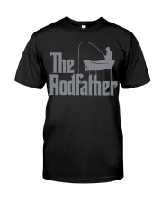 Fishing The Rodfather Funny Parody Classic T-Shirt front