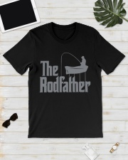 Fishing The Rodfather Funny Parody Classic T-Shirt lifestyle-mens-crewneck-front-17