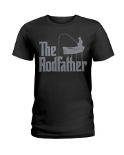 Fishing The Rodfather Funny Parody Ladies T-Shirt tile
