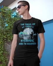 Fishing the drug of my choice Classic T-Shirt apparel-classic-tshirt-lifestyle-17