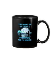 Fishing the drug of my choice Mug tile