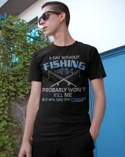 Fishing Day Fishing Classic T-Shirt apparel-classic-tshirt-lifestyle-17