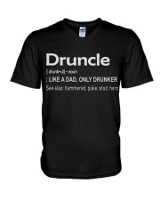 Druncle Like a Dad only Drunker V-Neck T-Shirt thumbnail