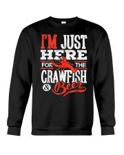Just Here for Crawfish Beer Crewneck Sweatshirt thumbnail