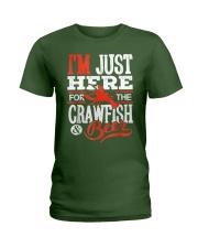 Just Here for Crawfish Beer Ladies T-Shirt thumbnail