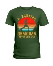 A Running Grandma Never Gets Old Tshirt  Ladies T-Shirt thumbnail