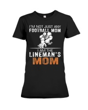 I Am The Lineman's Mom Tshirt Premium Fit Ladies Tee thumbnail
