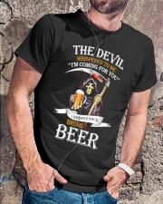 I Whisper Back Bring Beer Tshirt Classic T-Shirt lifestyle-mens-crewneck-front-4