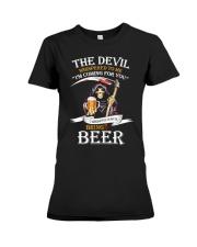 I Whisper Back Bring Beer Tshirt Premium Fit Ladies Tee thumbnail