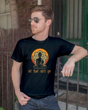 Let That Shit Go Yoga Buddha Classic T-Shirt lifestyle-mens-crewneck-front-2