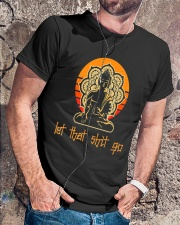 Let That Shit Go Yoga Buddha Classic T-Shirt lifestyle-mens-crewneck-front-4
