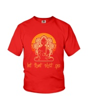 Let That Shit Go Yoga Buddha Youth T-Shirt thumbnail