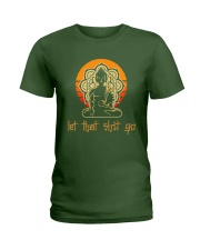 Let That Shit Go Yoga Buddha Ladies T-Shirt thumbnail