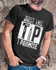Just The Tip I Promise Gun T-Shirt Classic T-Shirt lifestyle-mens-crewneck-front-4