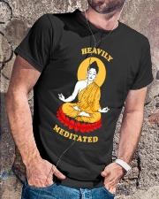 Heavily Meditated - Yoga Meditation Buddha Zen Classic T-Shirt lifestyle-mens-crewneck-front-4